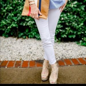 J. CREW White Toothpick Skinny Ankle Jeans 28